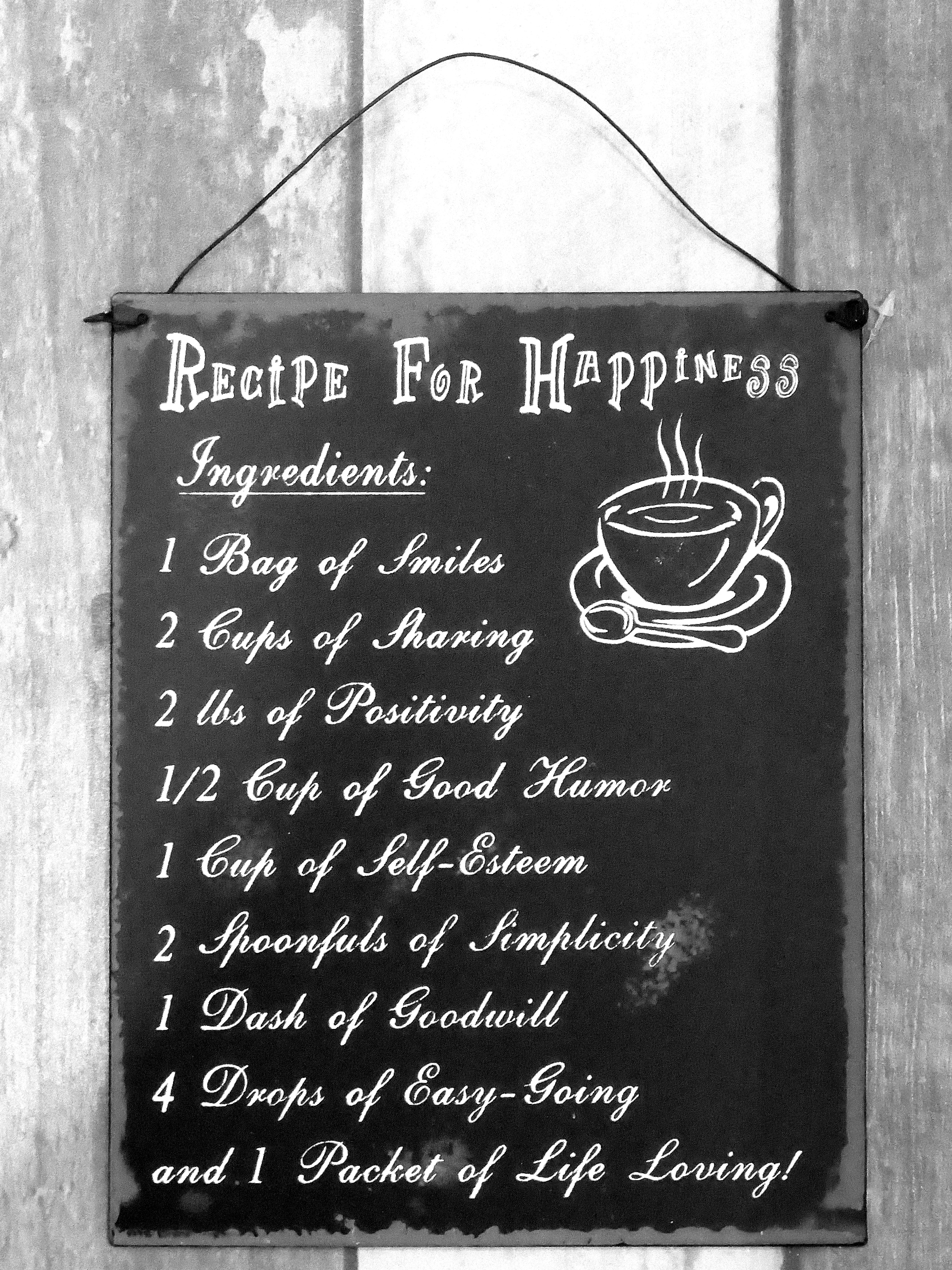 Cedule RECIPE FOR HAPPINESS