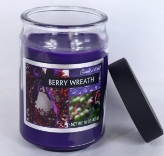Candle-lite-BERRY WREATH-453g